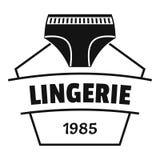 Lingerie beautiful logo, simple black style. Lingerie beautiful logo. Simple illustration of lingerie beautiful vector logo for web Stock Photos