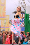 Lingerie fashion on the catwalk Royalty Free Stock Image