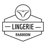 Lingerie female logo, simple black style. Lingerie female logo. Simple illustration of lingerie female vector logo for web Stock Photos
