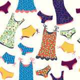 Lingerie funny seamless pattern Stock Photography