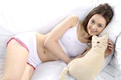 Lingerie girl Stock Image