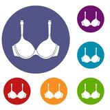 Lingerie icons set Royalty Free Stock Images