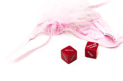 Lingerie love dice Royalty Free Stock Photography