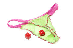 Lingerie love dice Royalty Free Stock Images