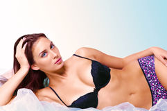 Lingerie model Royalty Free Stock Photography