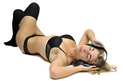 Lingerie & music Royalty Free Stock Photo