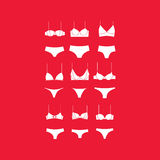 Lingerie . panties. bra Royalty Free Stock Images