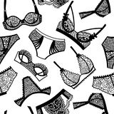 Lingerie panty and bra seamless pattern. Royalty Free Stock Photos