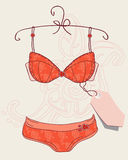 Lingerie in retro style Royalty Free Stock Photos