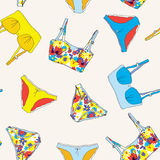 Lingerie retro style seamless pattern Stock Images