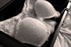Lingerie set with pearl necklace Royalty Free Stock Photos