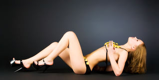 lingerie sexy slim woman Στοκ Εικόνα