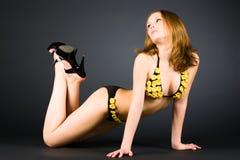 lingerie sexy slim woman Στοκ Φωτογραφίες