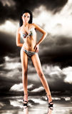 lingerie sexy slim woman Στοκ Εικόνες