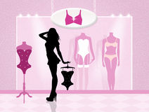 Lingerie shop Royalty Free Stock Photos