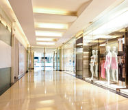 Lingerie shop in the mall corridor Stock Image