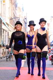 Lingerie on the street catwalk Stock Image