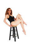 Lingerie woman on chair. Royalty Free Stock Image