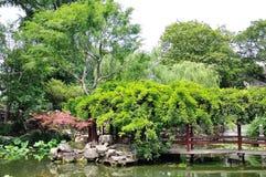 The Lingering Garden Bridge. Lingering Garden Suzhou garden Chinese water bridges, small bridges, Jiangnan style Royalty Free Stock Photos