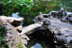 The Lingering Garden Bridge. Lingering Garden Suzhou garden Chinese water bridges, small bridges, Jiangnan style Stock Photography