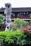 Lingering Garden Guanyun peak. Lingering Garden Park building layout ingenious, numerous and well-known stone. One of the four famous gardens in Chinese Stock Photo