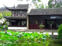 Lingering Garden houses. Tourists traveling Lingering Garden houses,The Classical Gardens of Suzhou jiangsu province China Stock Images