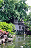 A Lingering Garden landscape. Lingering Garden Park building layout ingenious, numerous and well-known stone. One of the four famous gardens in Chinese Royalty Free Stock Photo
