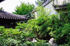 A Lingering Garden landscape. Lingering Garden Park building layout ingenious, numerous and well-known stone. One of the four famous gardens in Chinese Royalty Free Stock Photos