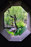 A Lingering Garden landscape. Lingering Garden Park building layout ingenious, numerous and well-known stone. One of the four famous gardens in Chinese Royalty Free Stock Image