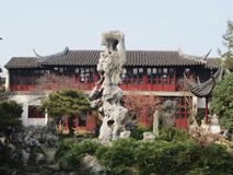 The odd head of suzhou lingering garden. The Lingering Garden is one of the Four Famous Gardens in China and also famous world cultural heritage royalty free stock photography