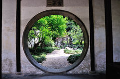 Lingering Garden Road. Lingering Garden Park building layout ingenious, numerous and well-known stone. One of the four famous gardens in Chinese Royalty Free Stock Photography