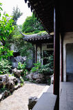Lingering Garden scenery. Lingering Garden Park building layout ingenious, numerous and well-known stone. One of the four famous gardens in Chinese Stock Image