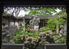 Lingering Garden Suzhou, Jiangsu Shilin small homes Stock Photos