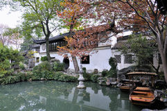 Lingering garden in suzhou. Suzhou lingering garden is one of China's four big gardens, as well as the world cultural heritage Stock Image