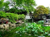 Lingering Garden. Tourists traveling Lingering Garden that belong to The Classical Gardens of Suzhou jiangsu province China Stock Photography