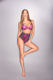 lingery的美丽的妇女 免版税库存照片
