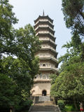 LingGu pagoda tower. Linggu Tower was in Nanjing area of the highest and most beautiful eight or nine-story pagoda, built by Suzhou Jinshan, reinforced concrete Stock Photo