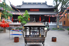 Linggu Tempel, Nanjing Stockbild