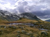 Lingmell seen from Styhead, Lake District Royalty Free Stock Photo