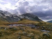 Lingmell som ses från Styhead, sjöområde Royaltyfri Foto