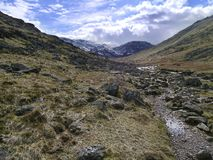 Lingmell from Styhead path, Lake District Royalty Free Stock Images