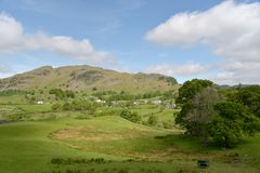 Lingmoor Fell in Little Langdale, Royalty Free Stock Images