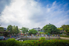 Lingnan-Eindruck Parkbewohner Lizenzfreie Stockfotos