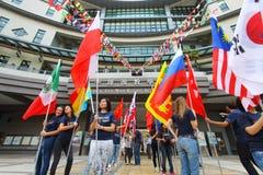 Lingnan University organizes International Day. HONG KONG - OCT 19: Lingnan University organizes International Day on October 19, 2011 in Hong Kong Stock Image