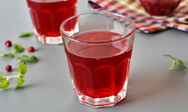 Lingonberry drink Royalty Free Stock Images