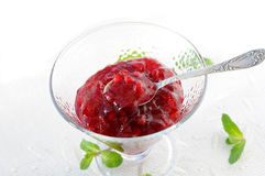 Lingonberry jam Stock Photography