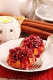Lingonberry upside down muffins Royalty Free Stock Image