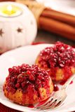 Lingonberry upside down muffins Royalty Free Stock Photography