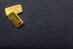 lingot d'or d'or de bar d'opérations bancaires Image libre de droits