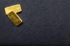 lingot d'or d'or de bar d'opérations bancaires Photos stock